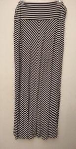 Merona black/white striped long skirt - XXL